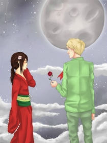 The little prince and his rose