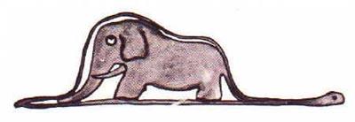 Elephant swallowed by a boa