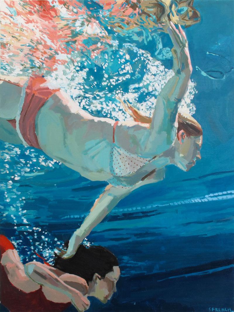 underwater painting people swimming - HD800×1065