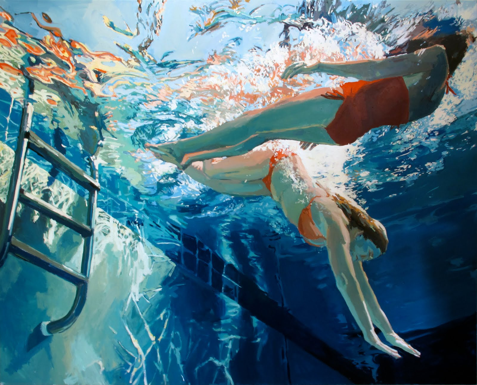 underwater painting with sunrays - HD1600×1291