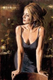 Cynzia painting by fabian perez