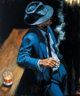 fabian perez painting man with hat
