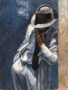 Man_in_White painting by favian perez