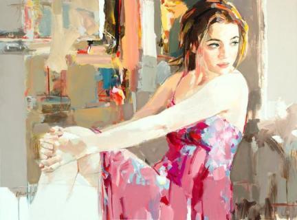 figurative painting woman Josef Kote 1