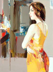 figurative painting woman Josef Kote 10