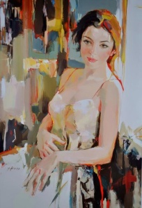 figurative painting woman Josef Kote 13