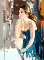 figurative painting woman Josef Kote 2