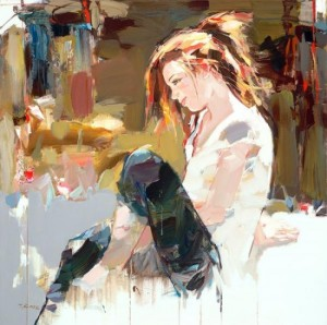 figurative painting woman Josef Kote 3