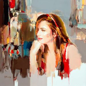 figurative painting woman Josef Kote 7