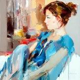 figurative painting woman Josef Kote 8