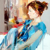 figurative painting woman Josef Kote 8