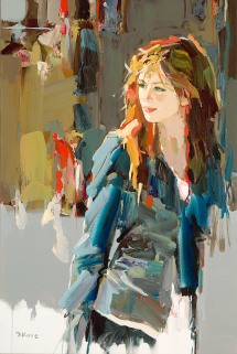 figurative painting woman Josef Kote
