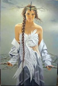 painting of woman ginette beaulieu 11