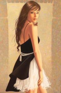 painting of woman ginette beaulieu 15