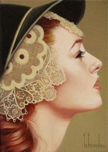 painting of woman ginette beaulieu 17
