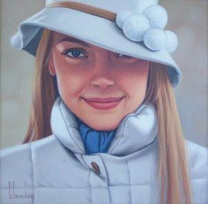 painting of woman ginette beaulieu 2
