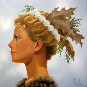 painting of woman ginette beaulieu 3