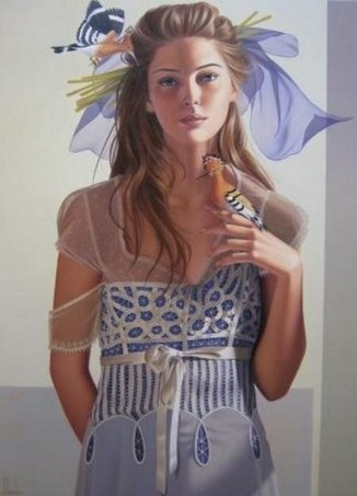 painting of woman ginette beaulieu 5