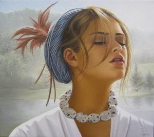 painting of woman ginette beaulieu 6