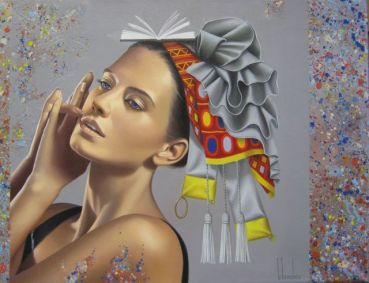 painting of woman ginette beaulieu 7