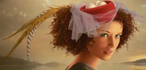 painting of woman ginette beaulieu 8