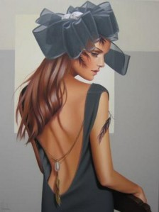 painting of woman ginette beaulieu 9