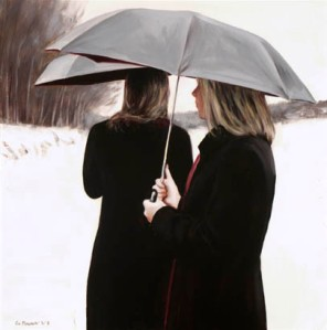 painting woman Gerard M Burns