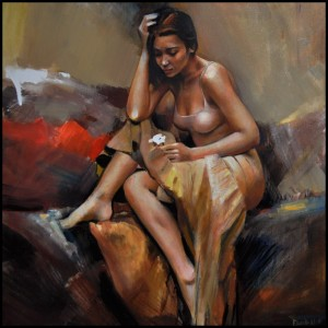woman painting by emilia wilk 0