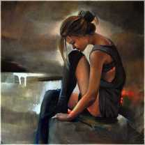 woman painting by emilia wilk 18