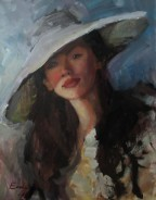 woman painting by emilia wilk 2