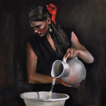 woman painting by emilia wilk 4