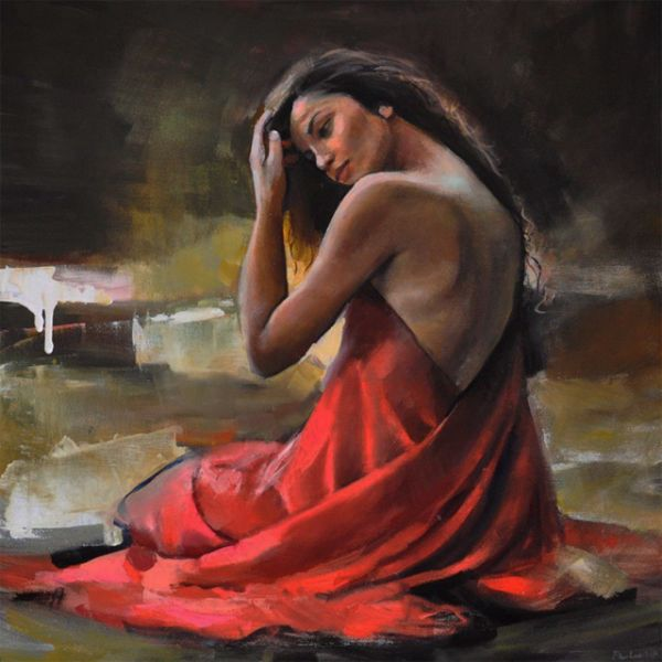woman painting by emilia wilk 7 boy with a hat