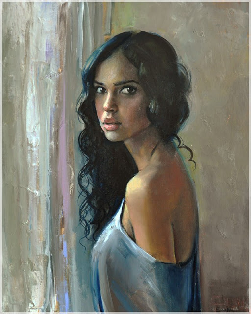 woman painting by emilia wilk 9 boy with a hat