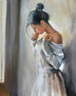 woman painting by emilia wilk