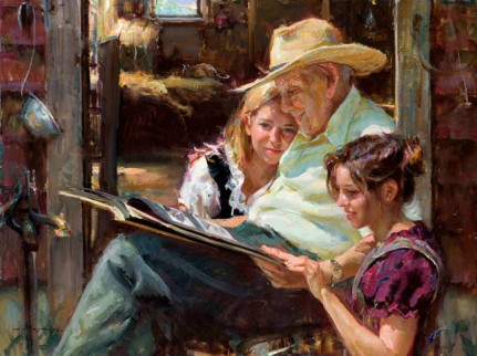A Moment to Reminisce painting daniel gerhartz