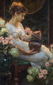 daniel gerhartz painting girl with box
