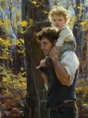 father and son painting daniel gerhartz