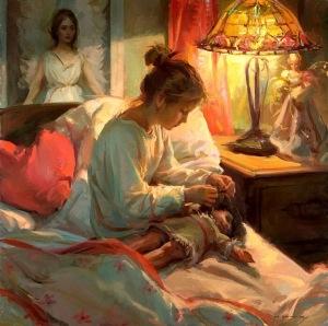 girl with doll painting daniel gerhartz