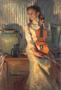 girl with viollin daniel gerhartz
