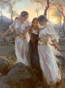 hinds feet painting by daniel gerhartz