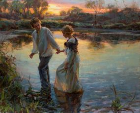 painting man and woman daniel gerhartz