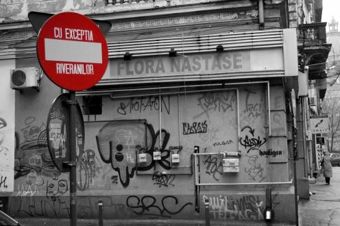 Red parking sign Bucharest