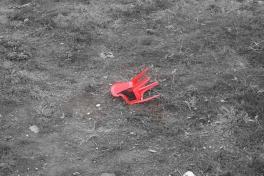 Fallen red chair