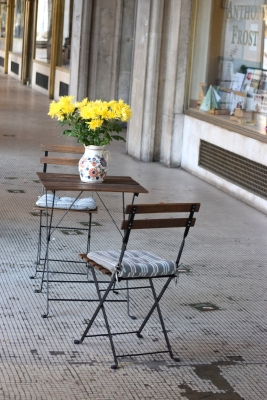 Flowers and chairs