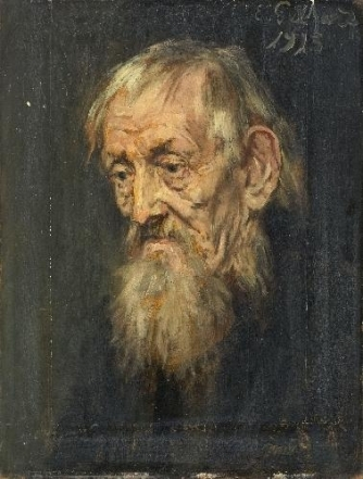 Portrait of an old Man Painting by Eduard von Gebhardt
