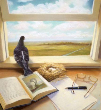 window desk writing potential deborah dewit painting