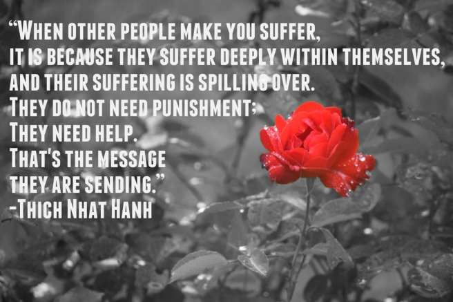 Thich Nhat Hanh Quote Red Rose Rain
