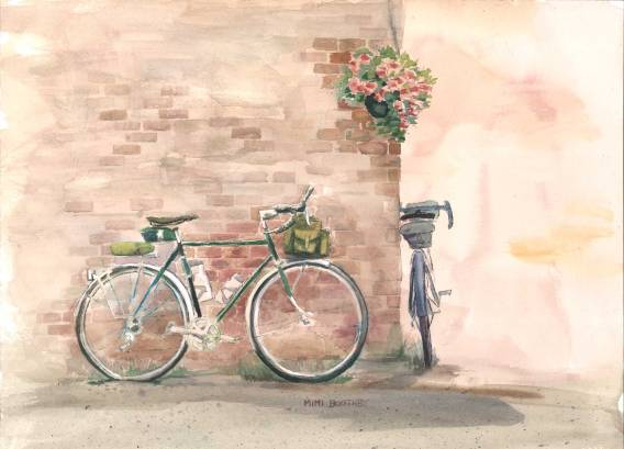 Painting of a bicycle