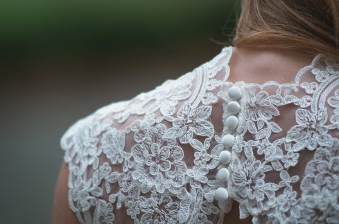 woman wedding back