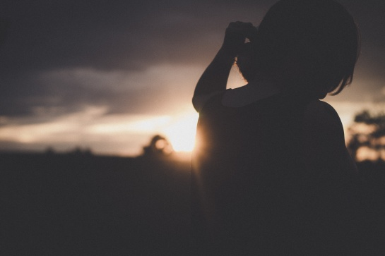 woman sunset photography silhouette